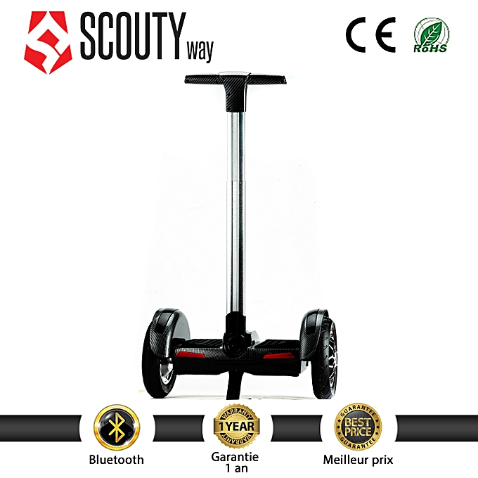 Scoutyway Hoverboard Scooter MINI Segway bleutooth--voiturebone Noir à prix pas cher