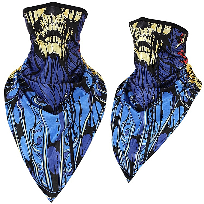 Autre Halloween Scarf Mask Summer Motorcycle Face Shield Skull Ghost Windproof Sun Mask Balaclava Bicycle Bike Neck Warmer Ice Silk( 304LH Ice silk) à prix pas cher