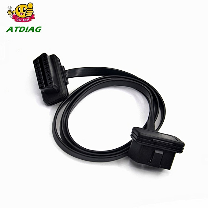 Other OBDII  60 100CM 16Pin OBD 2 OBD2 Cable Connector ic-Tool ELM327 Adapter Flat Thin As Noodle Male to  Extension à prix pas cher