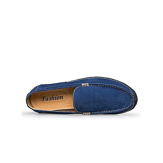 617bddeabb738 ... Tauntte Cow Leather Formal Shoes Genuine Leather à Casual Shoes (Blue)  à Leather prix ...