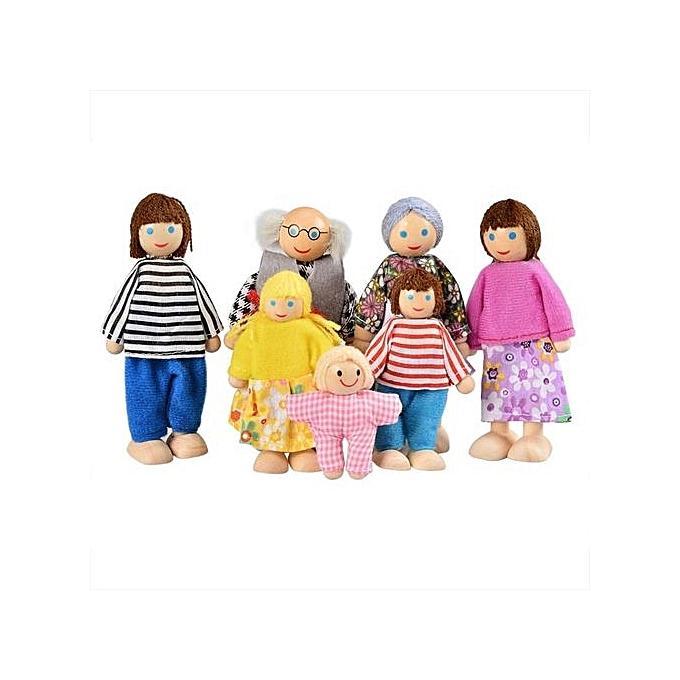 TOPRANK Arshiner   Enfants Girls Doll Toys Happy Dolls Family Of Seven à prix pas cher