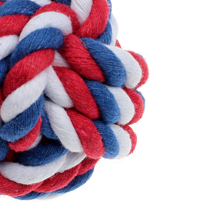 Generic Puppy Dog Cat Pet Toy Cotton Braided Knot Rope Chew Knot Chewing Toy RD à prix pas cher