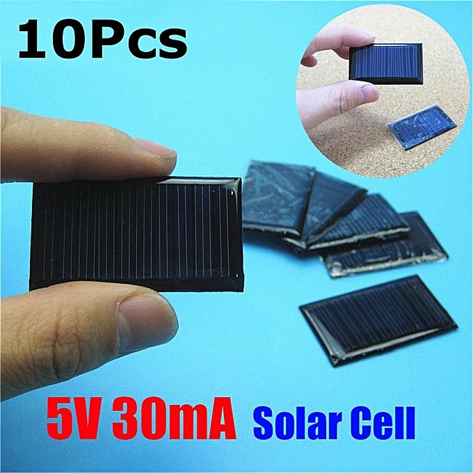 UNIVERSAL 10Pcs Lot 5V 30mA 53X30mm Micro Mini Small Power Solar Cells Panel For DIY Toy à prix pas cher