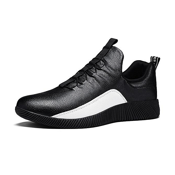 Fashion Fashion Men Leather Slip Resistant Wear-resistant Sport baskets-EU à prix pas cher