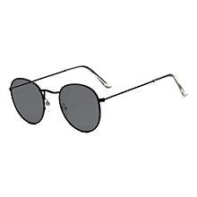 New Men amp woman Round Sunglasses Bright Reflective Sun Glasses -Black Box  Gray Sheet 5406003e2931
