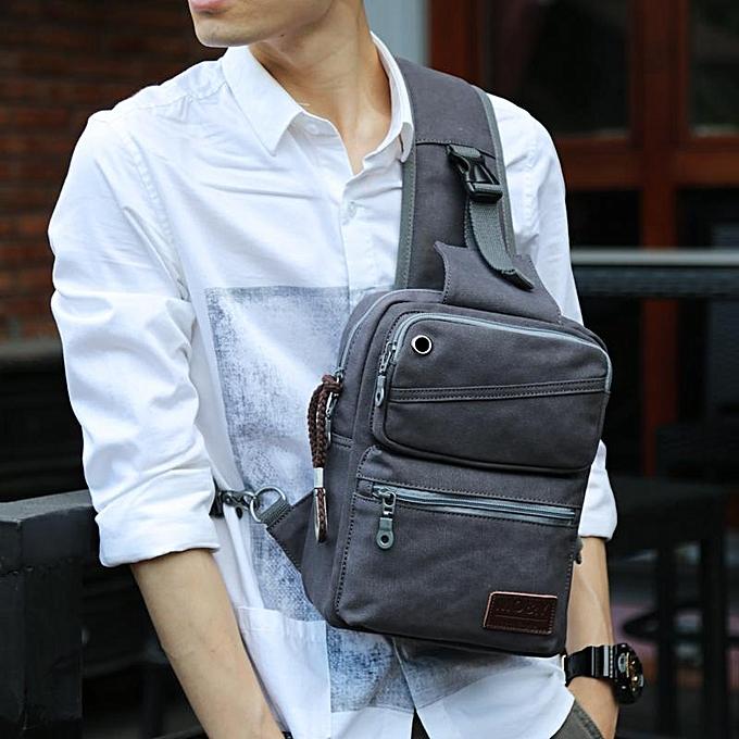 UNIVERSAL Canvas hommes bag trend chest bag hommes sports cross-body bag casual Messenger bag student backpack shoulder bag men à prix pas cher