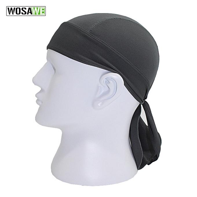 Autre WOSAWE solid hip hop rock men couple motorcycle cap breathable head cover hat UV prougeection Headscarf motocross Helmet Liner( Orange) à prix pas cher