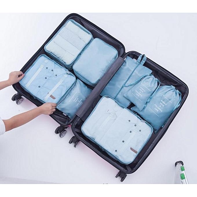 UNIVERSAL Travel storage Eight-piece baggage sorting storage bag Travel outdoor storage bag à prix pas cher