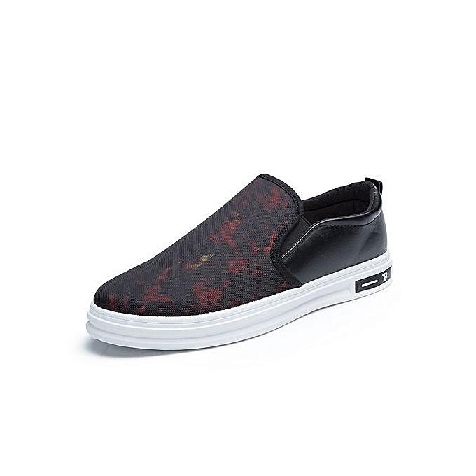 Generic été Hommes toile chaussures respirant Décontracté chaussures Loafers Deodorant Hommes's chaussures Ultralumière Lazy chaussures Flats mode-rouge à prix pas cher