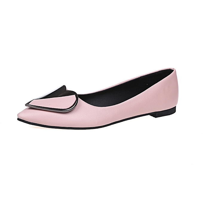 Fashion Jummoon Shop Wohommes Flats Ladies Heart Comfy chaussures Soft Slip-On Single Casual Boat chaussures à prix pas cher