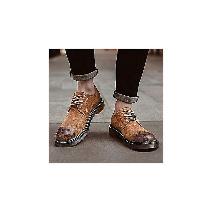 OEM Men's New Short Dagger Tips Dress Small Suit Slim Fit chaussures—coffee à prix pas cher    Jumia Maroc