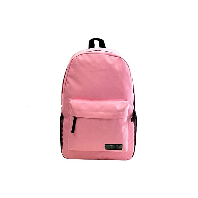 nouveauorldline mode Simple Femmes toile sac à dos SchoolSac PK-rose à prix pas cher