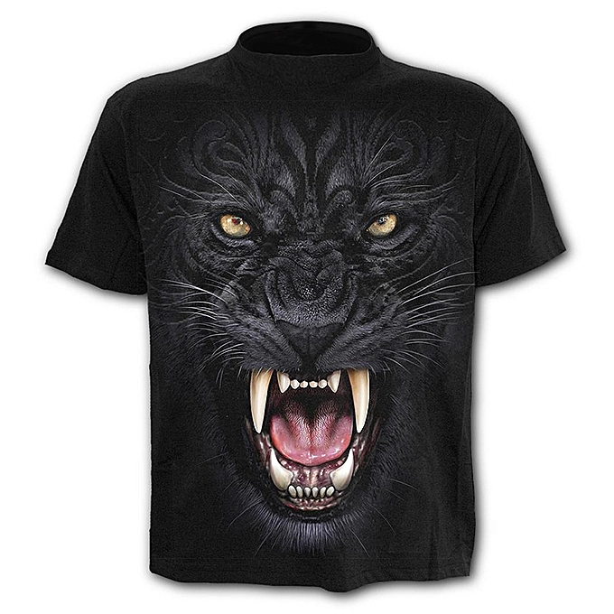 Other 2018 Mens Funny Shirt Lion 3D Printed T-Shirts Casual Short Sleeve Tees à prix pas cher