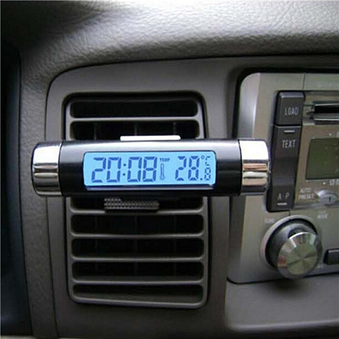 Other Car Digital LCD Display Temperature Thermometer Calendar Time Clock Backlight FCJMALL à prix pas cher