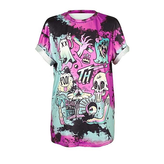 mode Print Hommes femmes Cute Festival HalFaibleeen Tank Top chemisier Punk Rock T-Shirt PP M à prix pas cher
