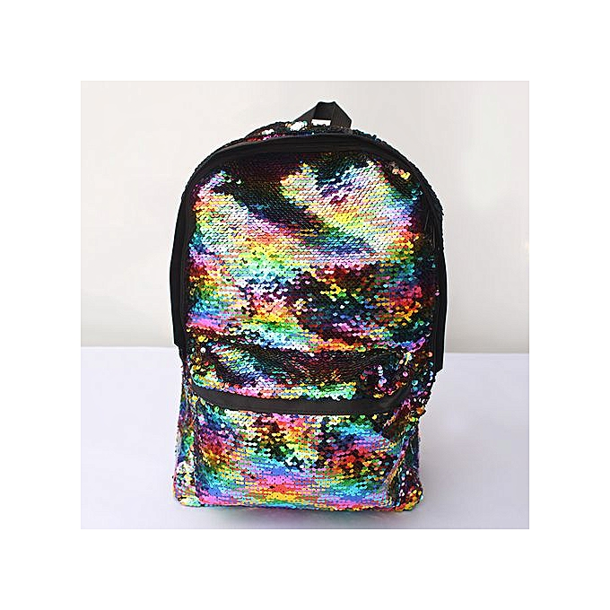 Fashion jiahsyc store Unisex Bag Sequins Backpack  Small Travel Princess Bling Backpacks-MultiCouleur à prix pas cher