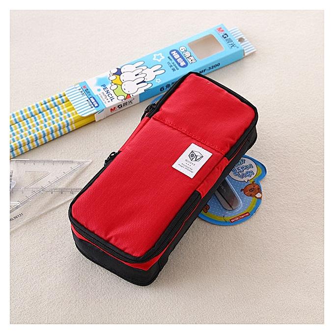 UNIVERSAL Multifunction School Pencil Case Bags Boys Large Capacity Pen Curtain Box Kids Gift(rouge) à prix pas cher