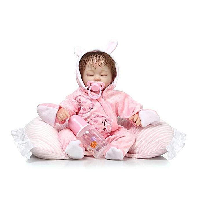 Autre Doux Silicone Reborn Bébé Poupée Enfants Fille Corps Poupée avec Poupée Robe VêteHommests Nouveau-Né Dormir Bébé Jouets à prix pas cher
