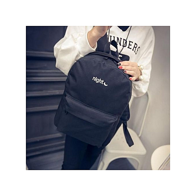 Fashion Hiamok_Simple Embroiderouge Day And Night Shoulder Bag Backpack à prix pas cher