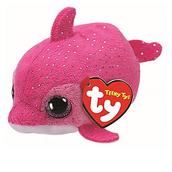 Autre TY Beanie Boo Teeny Tys Plush blanc Owl Pig Monkey Fox Husky Crocodile Dog Unicorn 9cm Big Eyes Dog Plush Toy Doll   Enfant Gift(lumière gris) à prix pas cher