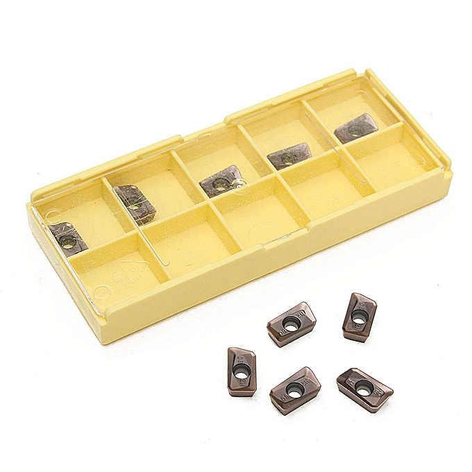 UNIVERSAL 10pcs APKT11T308-PM With Box For Carbide Tungsten Steel Milling Inserts Tool à prix pas cher