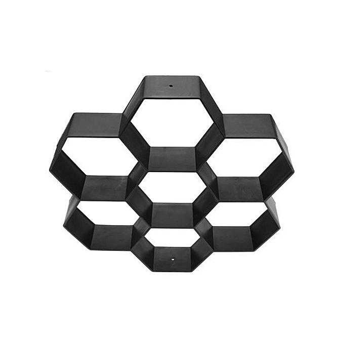 UNIVERSAL Hexagon Stone Mold Paving Concrete Stepping Stone Mould Pavement Paver noir à prix pas cher