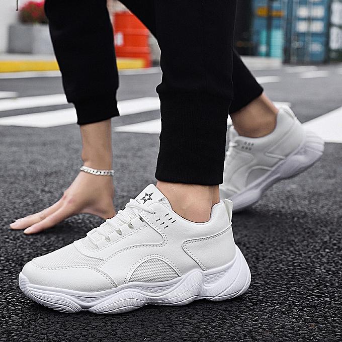 Fashion Men's mesh breathable old casual chaussures-blanc à prix pas cher    Jumia Maroc