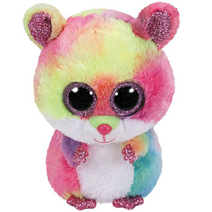 Autre Ty Beanie Boos 6  15cm Dog Bird Fish Bunny Penguin Raccoon Lamb Plush Big eyed Stuffed Animal Doll Toy with Heart Tag(Rodney Hamster) à prix pas cher