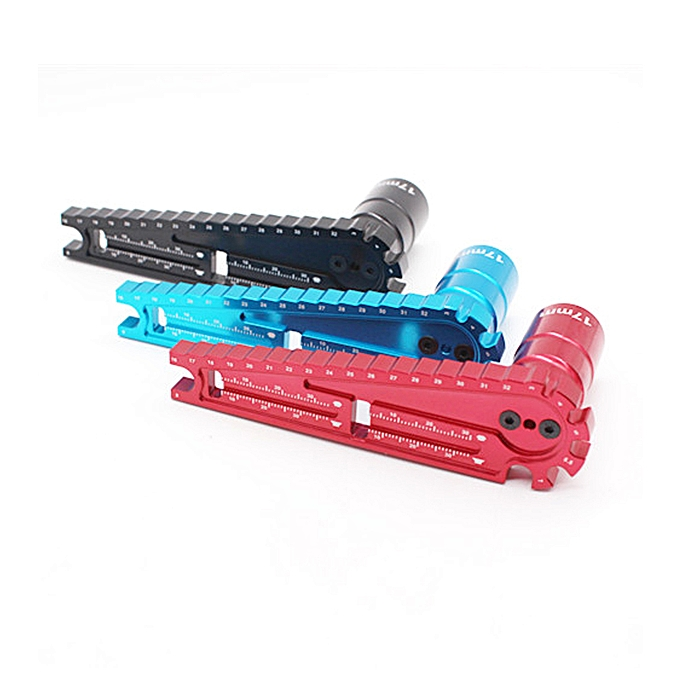 UNIVERSAL WLtoys Vehicle High Tension Rod Wrench Screw Measubague Tool Ruler 17mm Six Angle Sleeve RC voiture Parts-bleu à prix pas cher