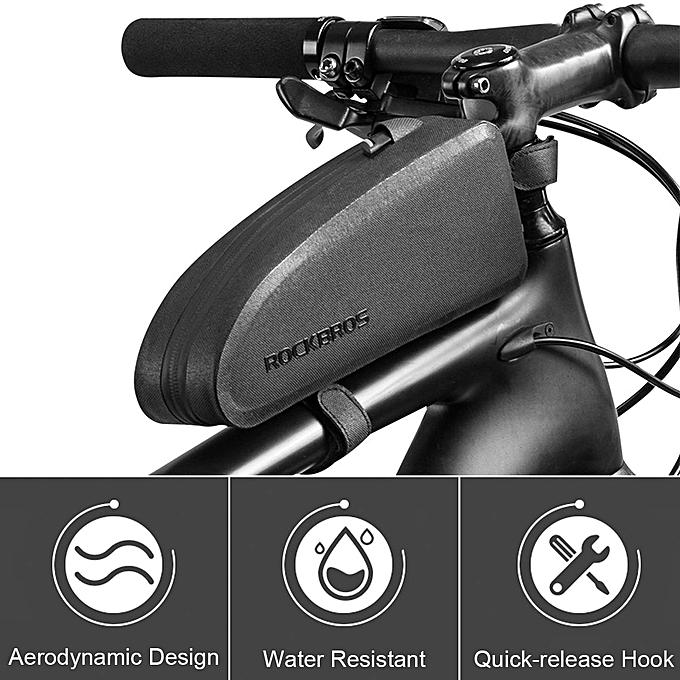 UNIVERSAL ROCKBROS Waterproof Bike Bag Cycling Top Tube Frame Bag Large Capacity noir [Small Taille] à prix pas cher