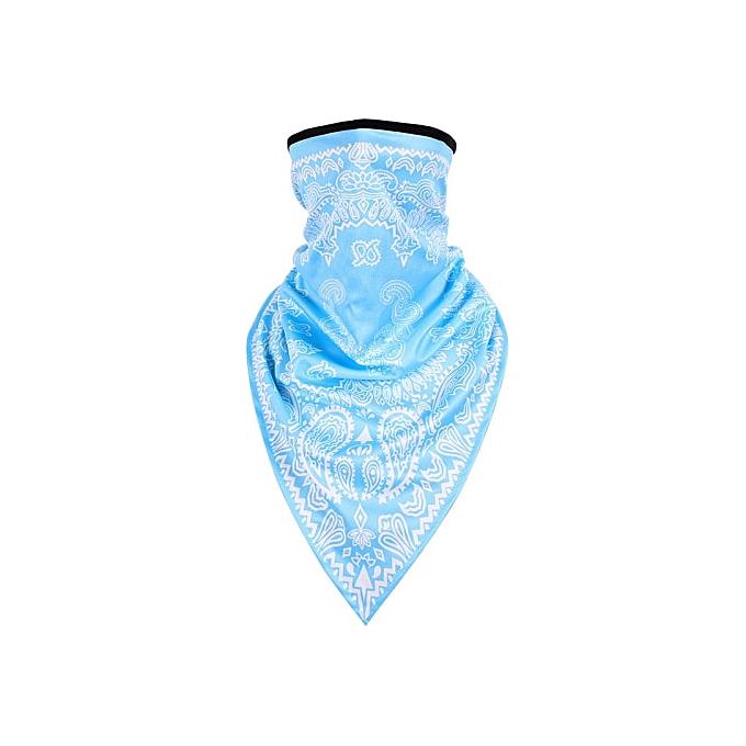 Autre POSSBAY Motor Windproof Scarf Multifunctional Half Face Mask Motor Balaclavas Biker Face Shield Outdoor Breathable Face Shield( Sky bleu) à prix pas cher