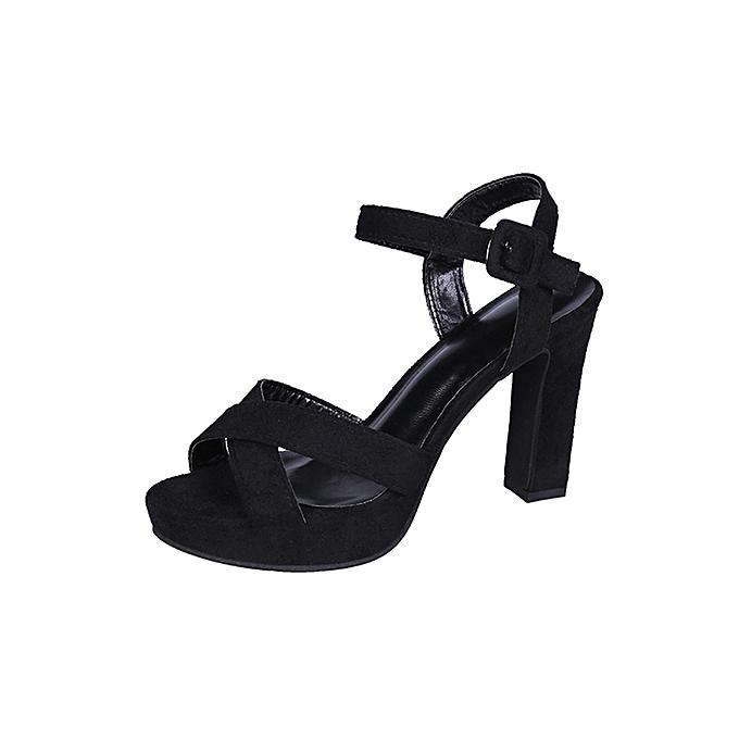 Fashion jiahsyc store Wohommes Fashion Casual Platforms Super High Heels chaussures Open Toe Party Sandals à prix pas cher    Jumia Maroc