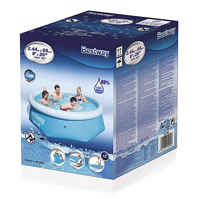 BESTWAY SWIMMING POOL Round Family Paddling Fast Set Garden Pools à prix pas cher