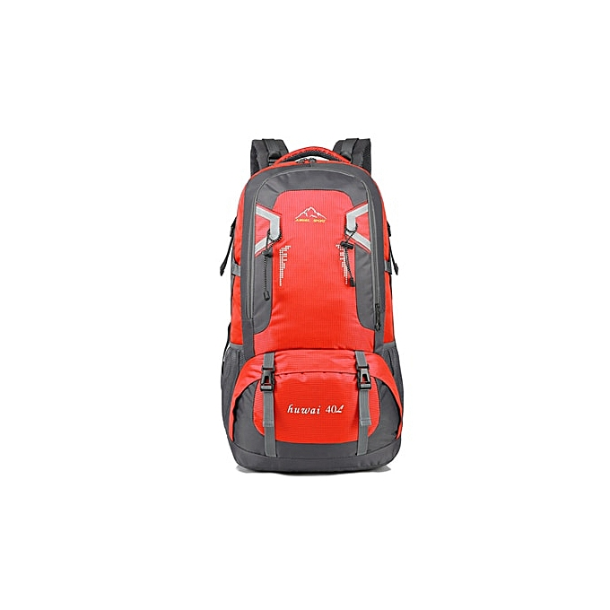 Other Large capacity 60L 40L travel bag Outdoor backpack sports duffle bag fashion packing cubes uni mountaineering bag  SH80(40L rouge) à prix pas cher