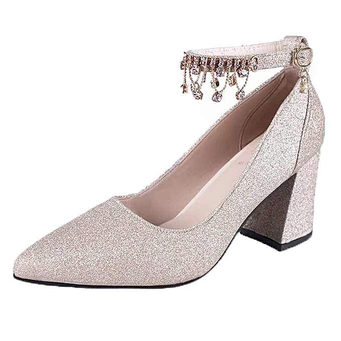 Fashion Fashion High Heels WoHommes  Pumps Shoes Shoes Pumps Thick Heel Shoes Four Spointed Shoes - à prix pas cher    Jumia Maroc ce7492