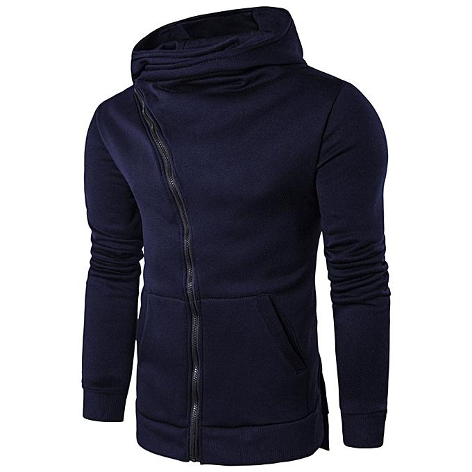 Fashion jiuhap store Men Zipper Hooded Coat Outwear Sweater Casual Shirt T-shirts Hoodie Tops NY L à prix pas cher