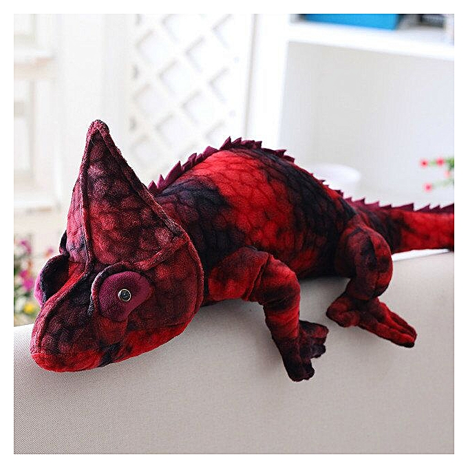Autre Simulation reptiles Lizard chameleon Plush Toys High Quality Personality animal doll Pillow for kids Birthday Christmas Gifts(Burdy) à prix pas cher