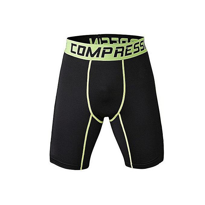 Other Hommes Compression Crossfit vert Line courtes à prix pas cher