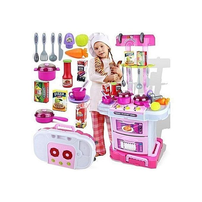 Generic Kit 43 pièces cuisine pour petits chefs - Jouer a volonté à prix pas cher
