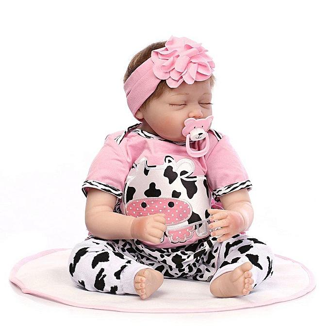 Autre Poupée de sommeil UR 55CM Reborn Baby Doll Silicone Réaliste Nouveau-né Poupée Fille Cadeau à prix pas cher