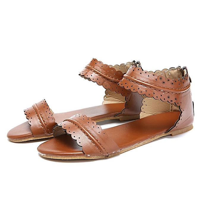 Fashion Fashion femmes Rohomme Non-slip Thong Sandals Flat Heels Rome Flower Summer chaussures à prix pas cher