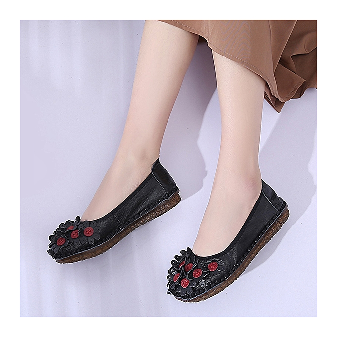 Fashion SOCOFY femmes Handmade Leather Flower Flat Casual Loafers à prix pas cher    Jumia Maroc