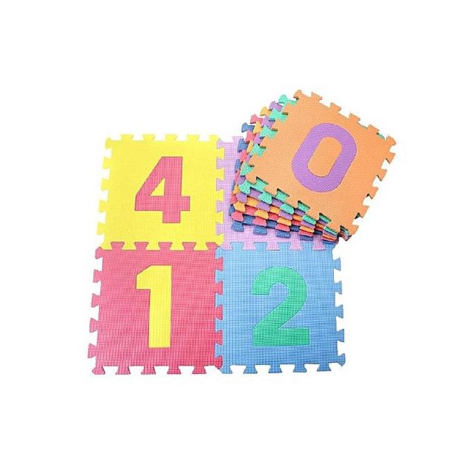Generic Kid Puzzle Cushion Toy Alphabet Letters Numeral Educational Foam Mat IQ Flooring à prix pas cher