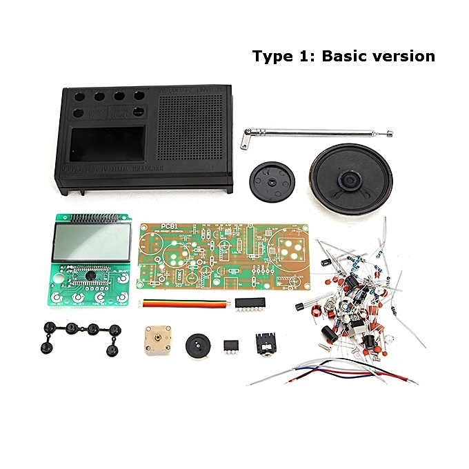 UNIVERSAL Geekcreit® DIY 3V FM Radio Kit Electronic Learning Suite Frequency Range 72MHz-108.6MHz  Type 2 à prix pas cher