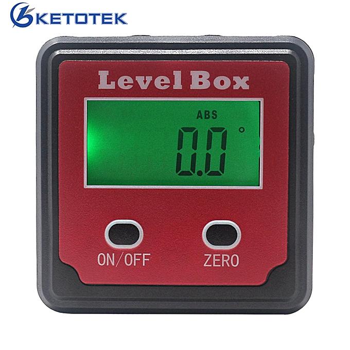 Autre Digital Prougeractor Angle Finder Level Box Inclinometer 4x90 Degree Bevel Box With Magnet Base à prix pas cher