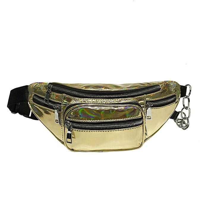 mode Unisex Laser cuir bandoulière sacs mode High-capacité Shoulder Chest sac à prix pas cher