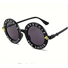 cb00da4c53e lunettes De soleil rondes Anglais Lettres Abeille lunettes De Soleil Femmes  Hommes Marque Designer lunettes De