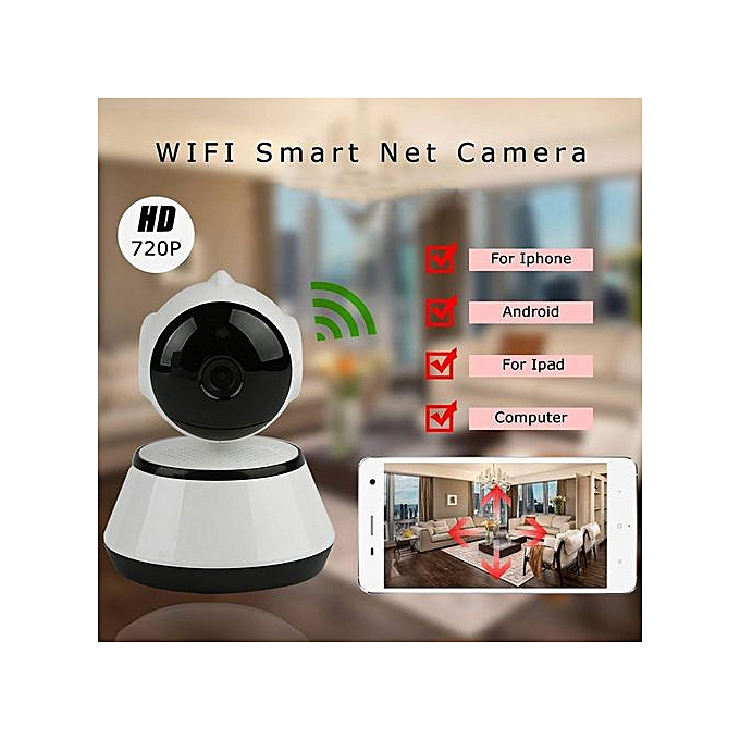 V380 Phone APP HD 720P Mini IP Camera Wifi Camera Wireless P2P Security  Camera Night Vision IR Robot Baby Monitor Support(SD Card Not Included)