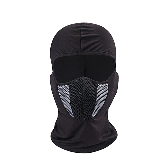 Autre 2019 Moto Face Mask Motorcycle Face Shield Tactical Airsoft Paintball Cycling Bike Ski Army Moto Helmet Full Face Mask( G) à prix pas cher