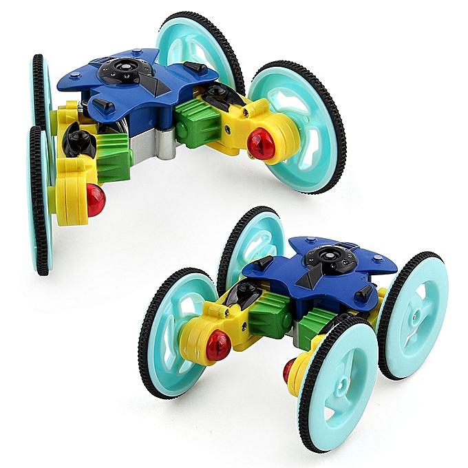 OEM nouveau DSstyles Mini Dual Motor Remote Control Vehicle Model 360 Degree rougeating Gyro Stunt voiture with lumière Enfants Toy bleu à prix pas cher
